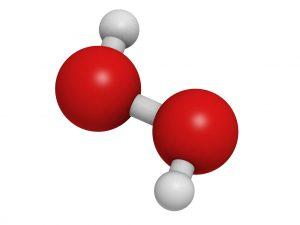 hidrogen-peroxid molekulák